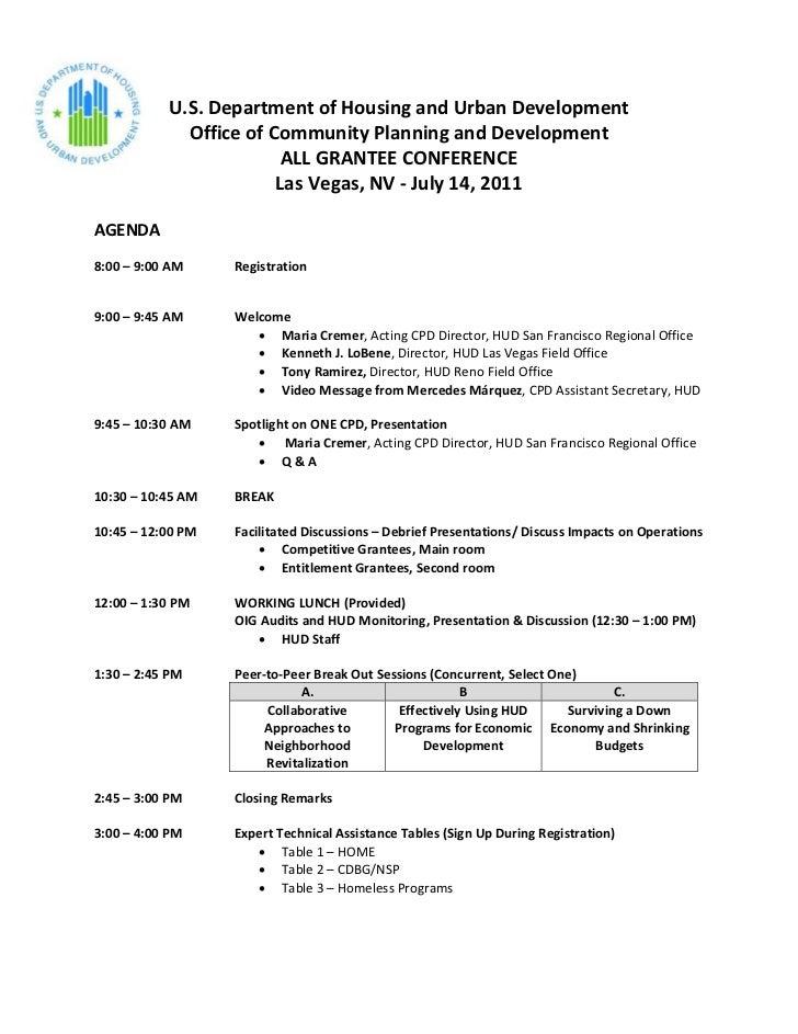 HUD All Grantee Conference -  Las Vegas, NV - July 14, 2011
