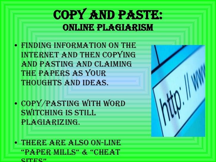 Online plagirism