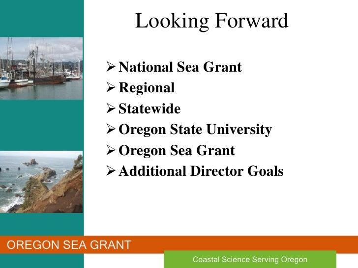 Oregon Sea Grant: Looking Forward