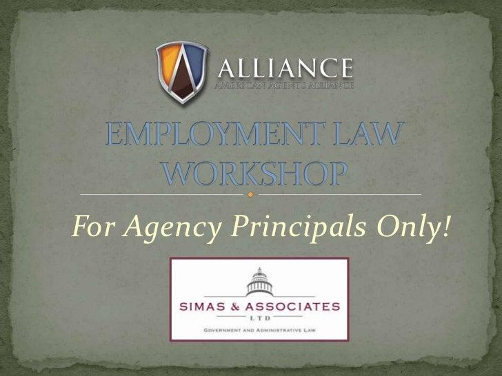 Employment Law Workshop