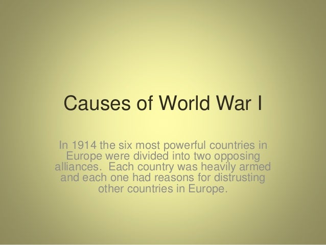 Causes and effects of world war 1 essay