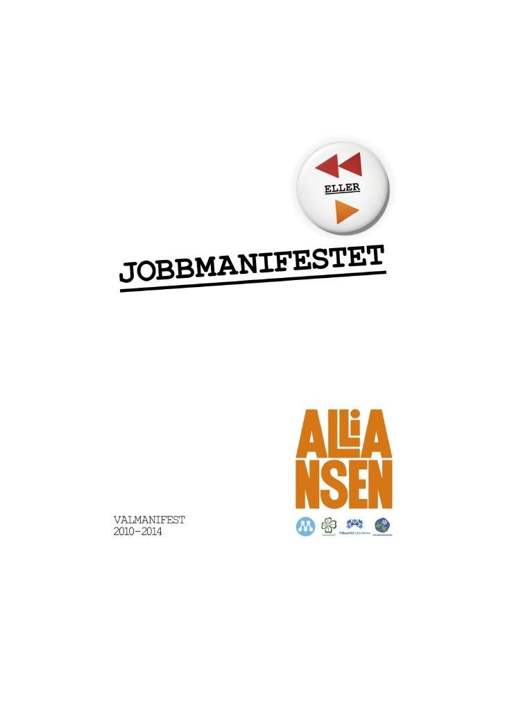 Alliansens jobbmanifest 2010