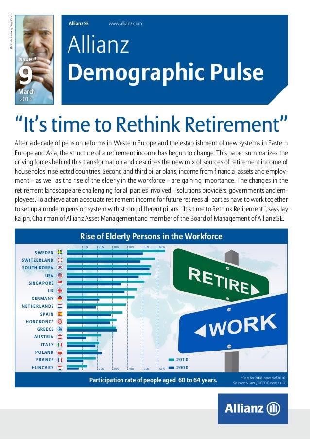 Allianz Demographic Pulse | Retirement | March 2013