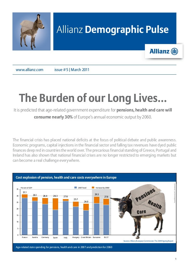 Allianz Demographic Pulse www.allianz.com                             issue # 5 | March 2011       The Burden of our Long ...