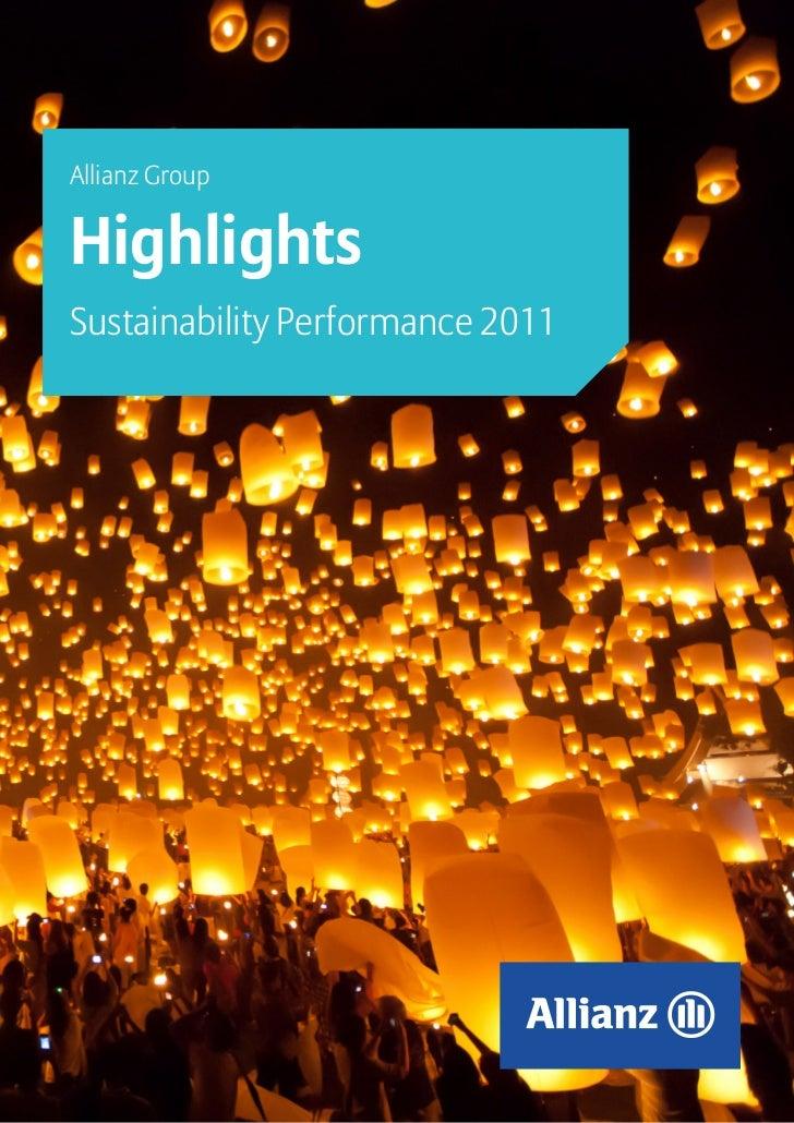 Allianz GroupHighlightsSustainability Performance 2011