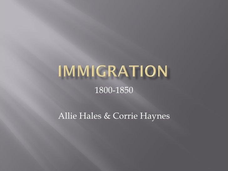 1800-1850 Allie Hales & Corrie Haynes