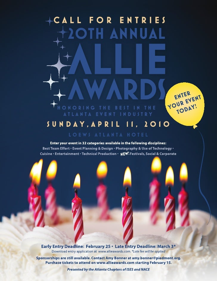 Allie Awards Entry Information
