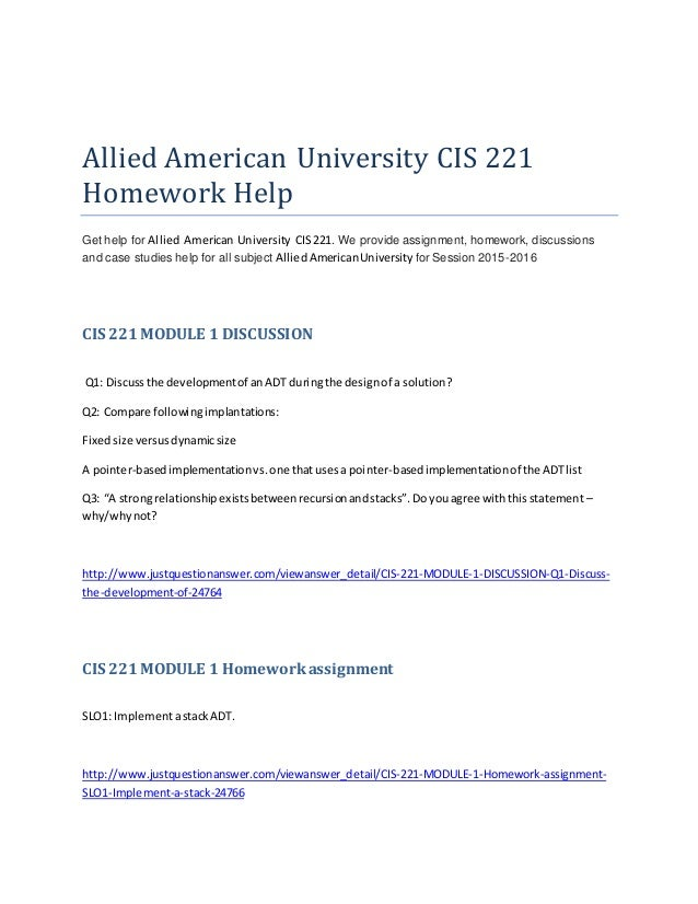 Cis100 homework help