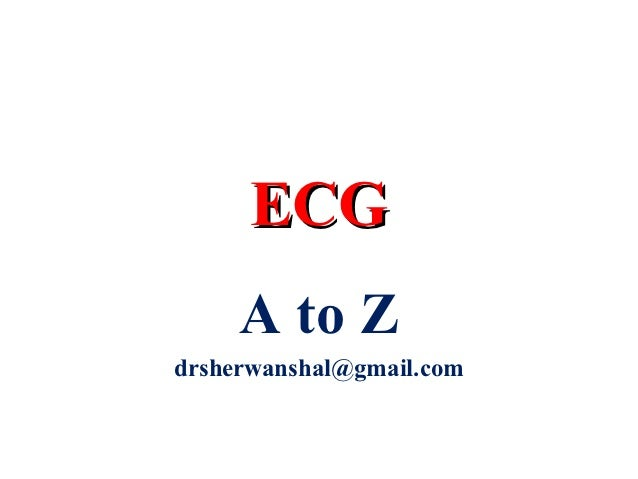All info about ecg