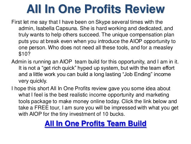 Image result for all in one profits