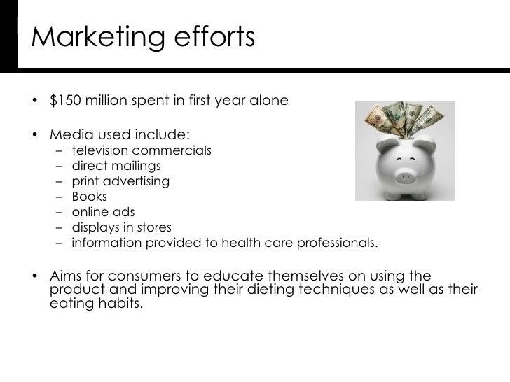 Marketing efforts  <ul><li>$150 million spent in first year alone </li></ul><ul><li>Media used include: </li></ul><ul><ul>...
