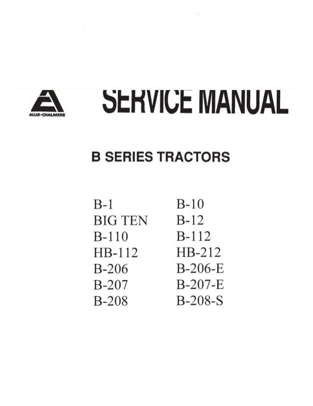 allis chalmers ca wiring diagram    allis       chalmers    b series tractor pdf service manual download     allis       chalmers    b series tractor pdf service manual download