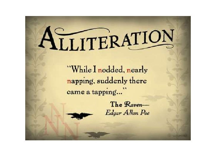 write alliteration essay An explanation of how to discuss the effects of alliteration using shakespeare's romeo and juliet as an example.