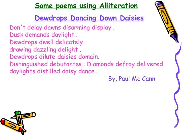 Alliteration an overview with examples for Alliteration poem template