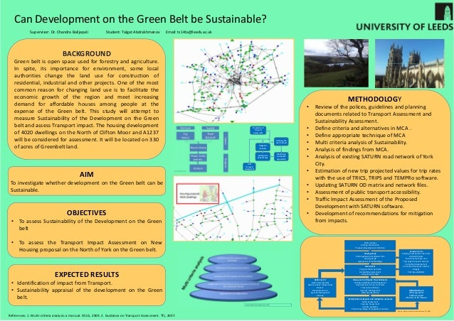 Master thesis sustainable development