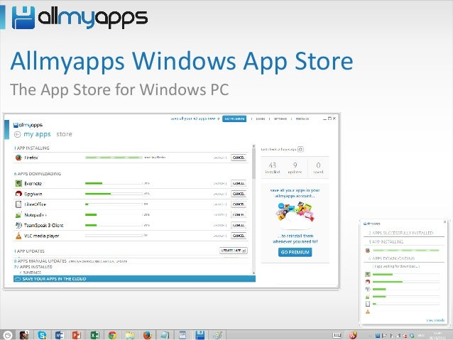 Allmyapps Windows App Store The App Store for Windows PC