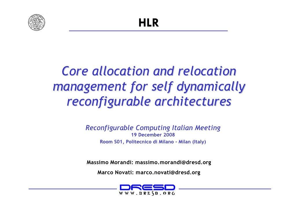 RCIM 2008 - Allocation Relocation