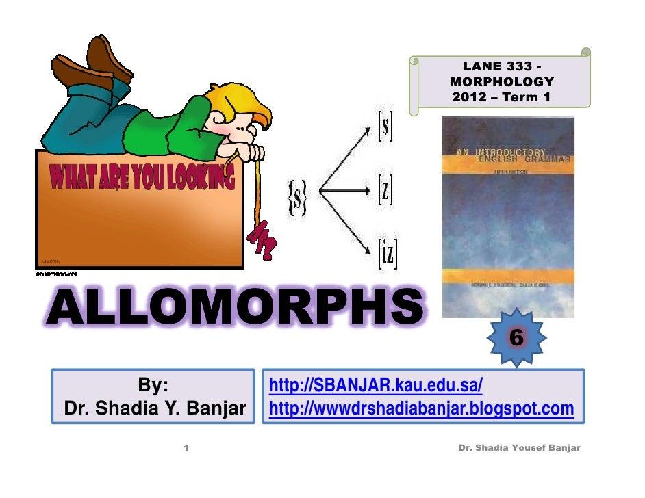 LANE 333 -                                            MORPHOLOGY                                            2012 – Term 1A...