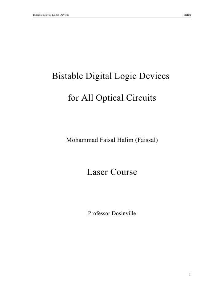 Bistable Digital Logic Devices                               Halim               Bistable Digital Logic Devices           ...