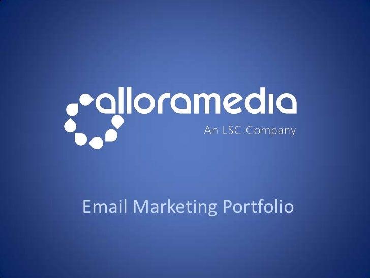 Email Marketing Portfolio<br />