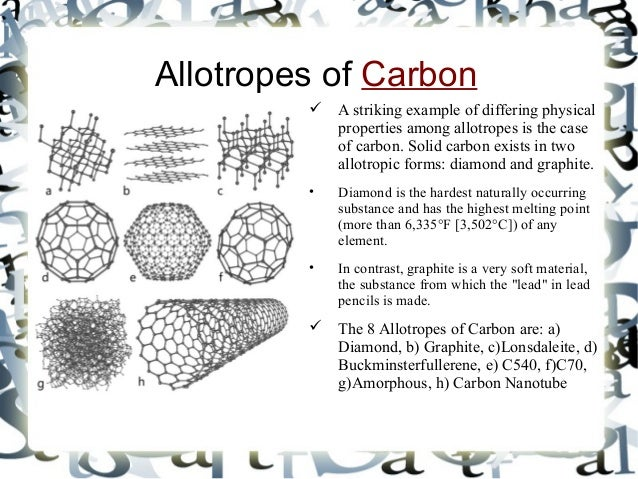 Different Allotropes Of