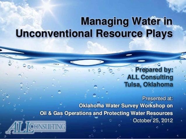 Oklahoma Water Survey Presentation