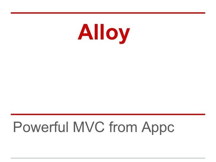 Appcelerator Titanium Alloy
