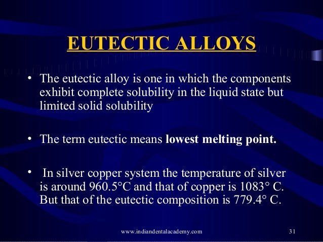 Eutectic alloys