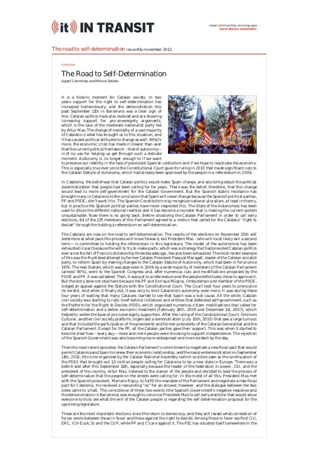The Road to Self-Determination (IT InTransit #10)