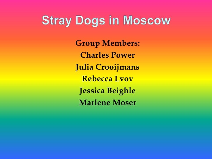 Stray Dogs in Moscow<br />Group Members:<br />Charles Power<br />Julia Crooijmans<br />Rebecca Lvov<br />Jessica Beighle<b...
