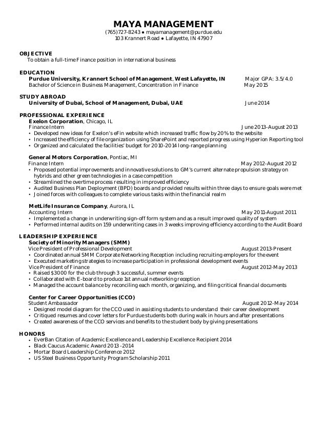 Graduate School Resume Examples  Sample Resume For Admission