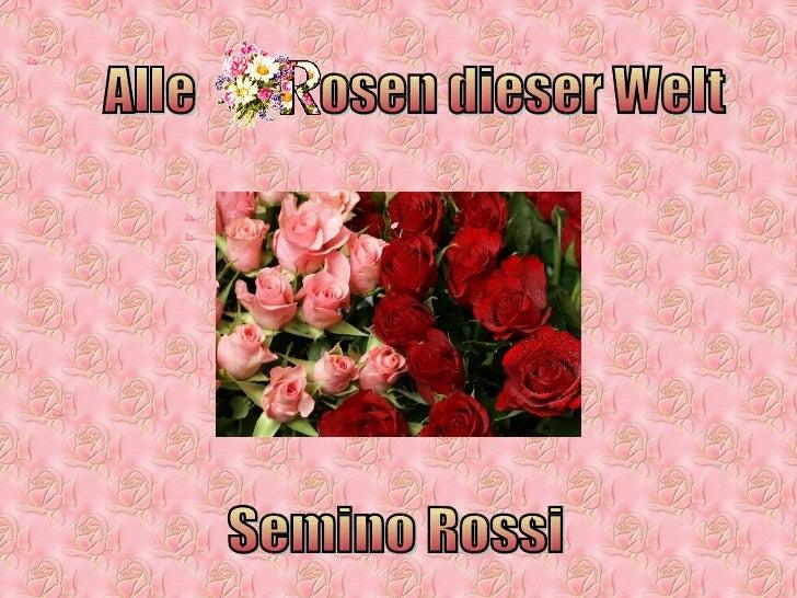 Alle  osen dieser Welt Semino Rossi
