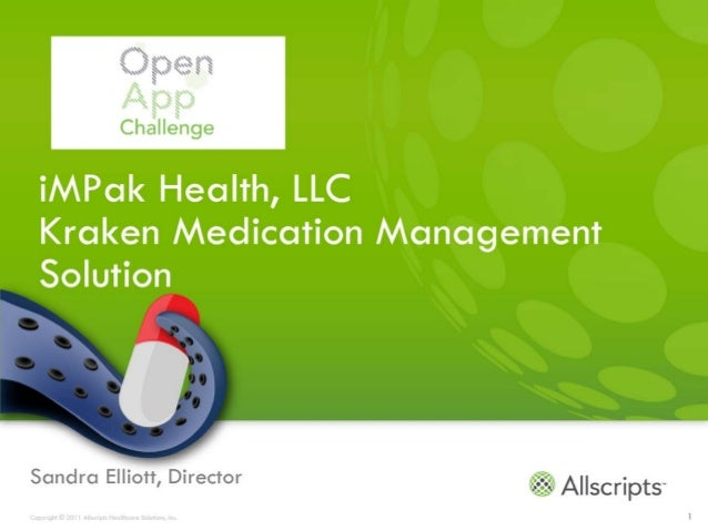 iMPak Health Kraken Allscripts open app challenge