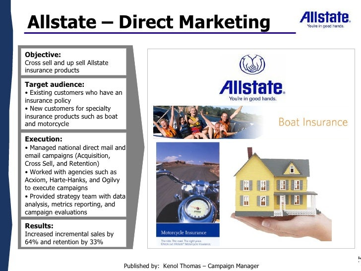 Allstate Direct Marketing Mailer And Email