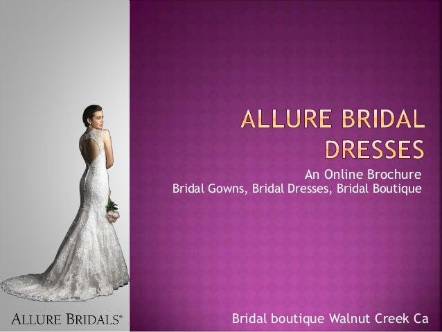 brochure design for boutiques - allure bridal dresses by flaresbridal