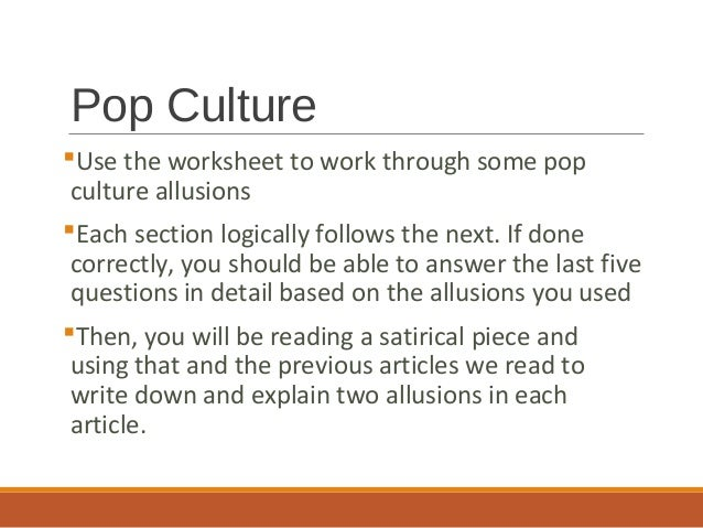 An Allusion To Culture Coursework Academic Writing Service