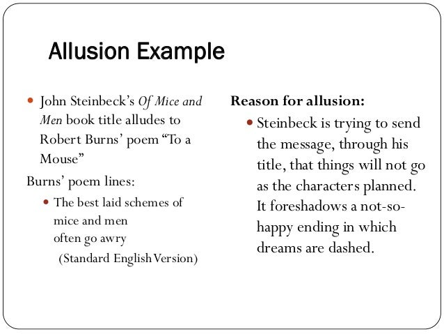 Allusion examples for middle school allusions powerpoint