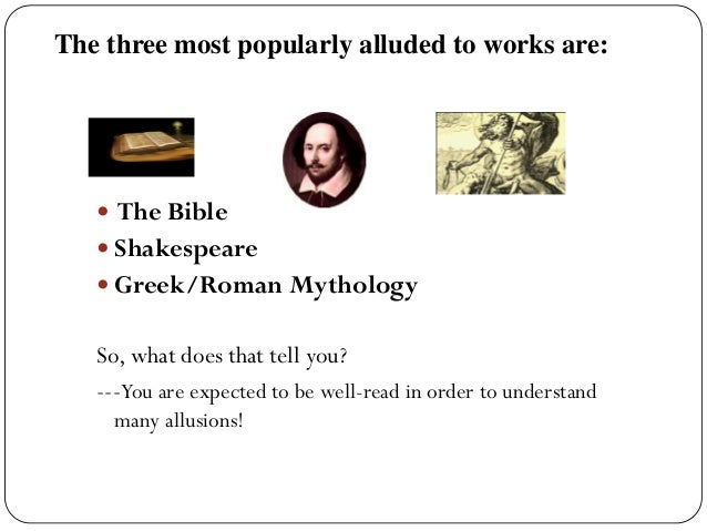 What is mythological references?