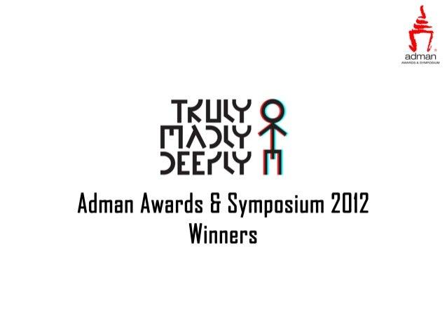 Adman Awards & Symposium 2012 Best of Film Commercials Title  Brand  Agency  Advertiser  Beijing Duck  Sunsnack  The Leo B...
