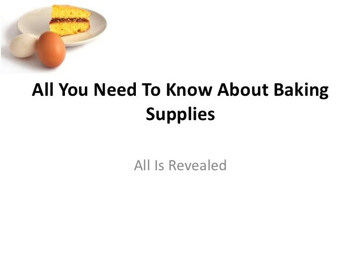 All you need to know about baking supplies