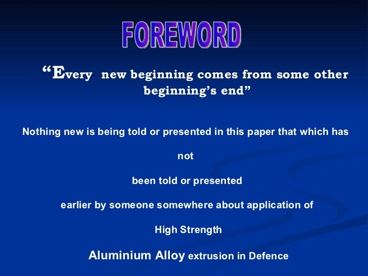""""""" E very  new beginning comes from some other beginning's end"""" Nothing new is being told or presented in this paper that w..."""