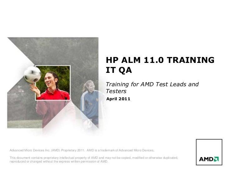 Alm 11.0 qa training