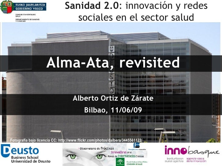 Sanidad 2.0: Alma-Ata revisited