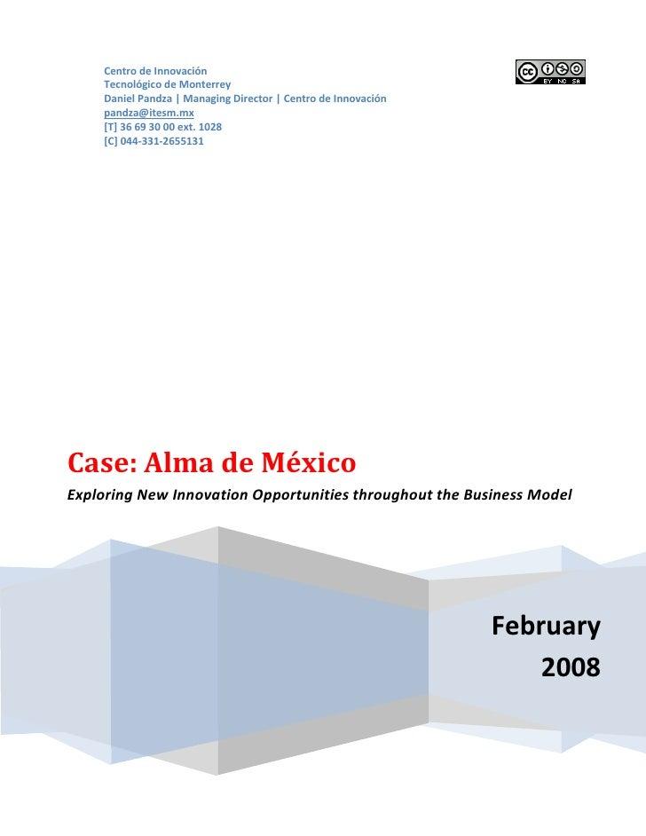 Centro de Innovación     Tecnológico de Monterrey     Daniel Pandza | Managing Director | Centro de Innovación     pandza@...