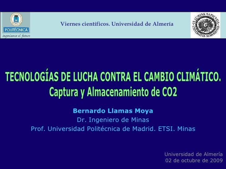 Tecnologías de lucha contra el cambio climático: captura y almacenamiento de CO2