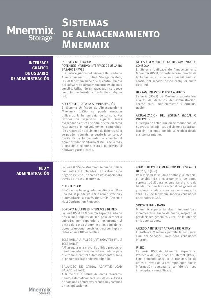Sistemas                    de almacenamiento                    Mnemmix        INTERFACE   ¡NUEVO Y MEJORADO!            ...