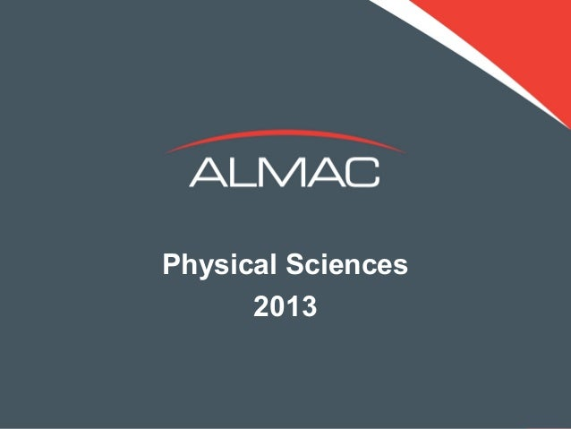 Physical Sciences      2013