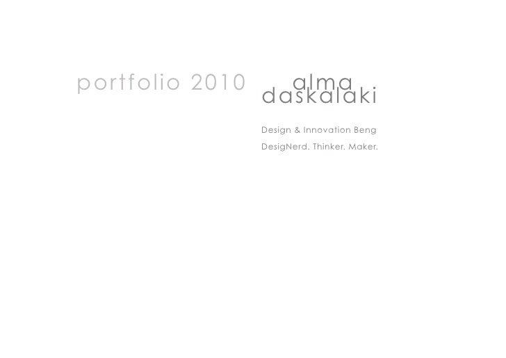 Alma.Daskalaki.Portfolio 2010