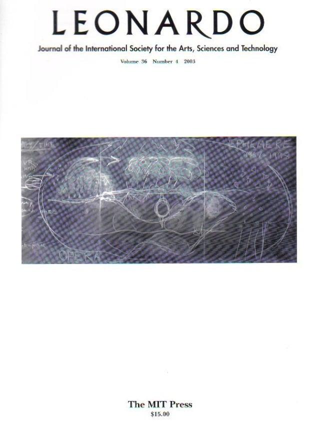 Alma de agua article   leonardo - journal of the international society for the arts sciences and technology volume 36 november 4 - mit press 2003