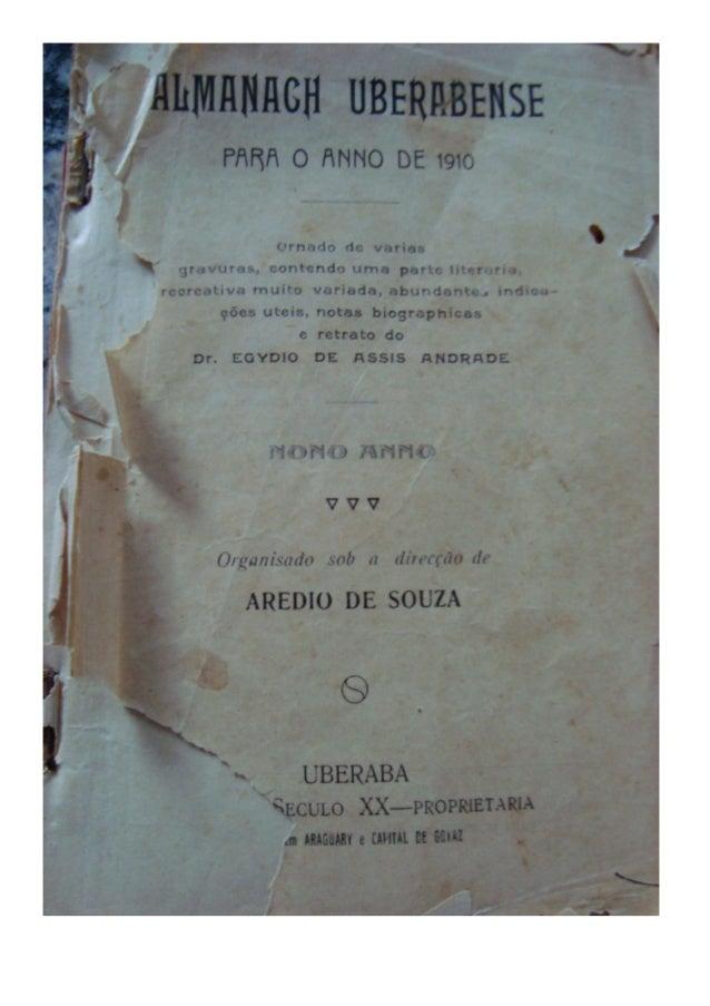 Almanaque Uberabense de 1910